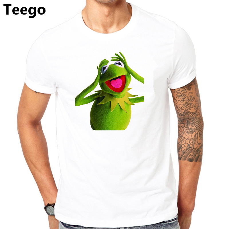 2017 New Summer T-shirts The Muppets Kermit The Frog T Shirt New Arrivals Casual Clothing