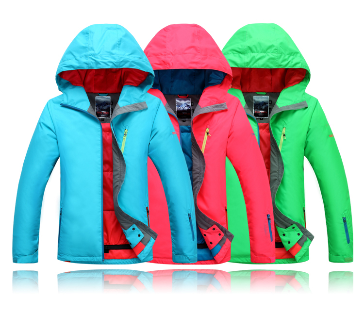 Gsou snow womens pure blue green rose ski jacket snowboarding jacket women skiwear waterproof 10K thermal top quality free ship