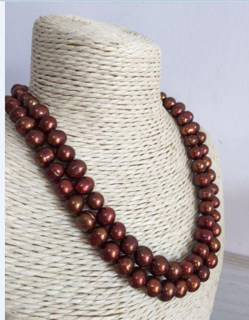 elegant 10-11mm south sea baroque chocolate pearl necklace 32925silverelegant 10-11mm south sea baroque chocolate pearl necklace 32925silver