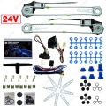 Car/Truck Front 2-Doors Electric Power Window Kits with 3pcs/Set Switches & Harness DC24V  #CA2979