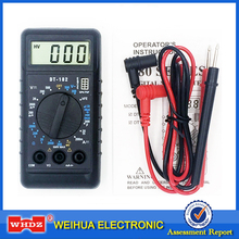 WHDZ DT-182 Extra Mini Digital Multimeter with Buzzer Overload protect Pocket Voltage Ampere Ohm Meter Test Probe DC AC LCD