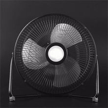 Digoo DF-101 Full Black Metal Electrical 360 Degree Rotatable USB Rechargeable 18650 Battery 10 inch Large Cool Desk Fan