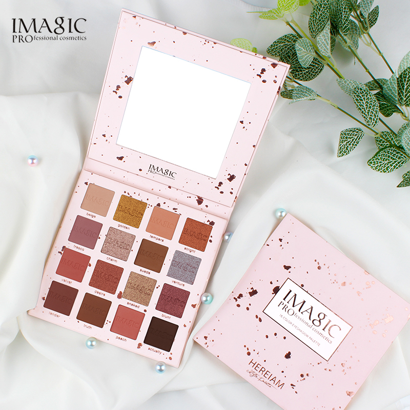 IMAGIC New Arrival Charming Eyeshadow 16 Color Palette Make up Palette Matte Shimmer Pigmented Eye Shadow Powder in Eye Shadow from Beauty Health