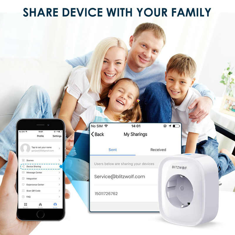 BlitzWolf BW-SHP2 WIFI 스마트 소켓 EU 플러그 220V 16A 원격 제어 스마트 타이밍 스위치 Amazon Alexa/Google Assistant