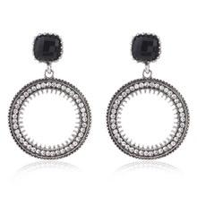 Купить с кэшбэком 2019 New Round Fashion Earrings For Women Color Big Earrings Fashion Jewellery Statement Earings Modern Fashion Summer Jewelry
