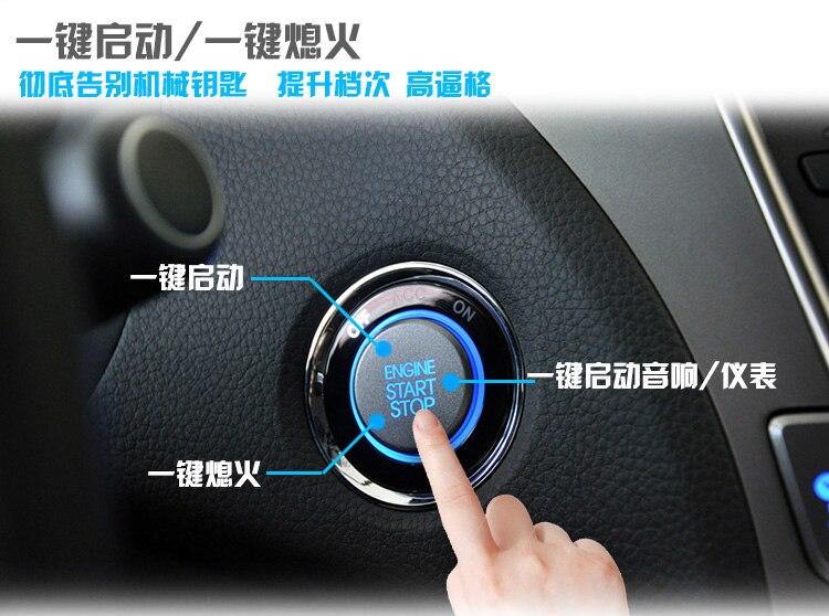 Offre spéciale système d'alarme de voiture automatique sans clé entrée moteur de voiture construit à distance verrouillage Central fonction de démarrage bouton poussoir PKE démarrage arrêt - 4
