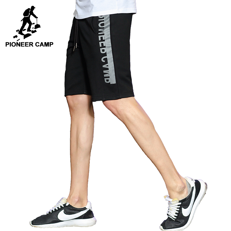Pioneer Camp casual summer shorts men brand clothing fashion printed workerout short male quality bermuda black grey ADK701026