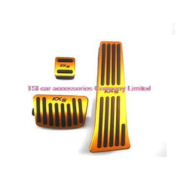 Car styling Pedals Cap Foot Rest Cover Accelerator Brake Clutch For KIA SPORTAGE QL 2016 2017 car-styling accessories Interior
