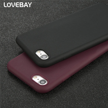 Lovebay Phone Case For iPhone 7 7 Plus 6 6s Plus 5 5s SE Candy Colors Soft Silicon Rubber Shockproof Phone Case Back Cover Bags