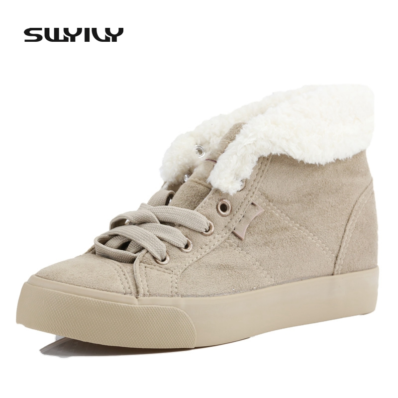 Sale 2016 Hot-Selling Spring Autumn Winter Velutinous Thermal Liner Snow Boots High-Top High Increased Winter Boots Shoes Woman