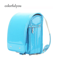 2019 Hot Orthopedic School Bags High Quality Patent leather Backpack For Boys And Girl Japanese Backpack Student Book Bag 2019