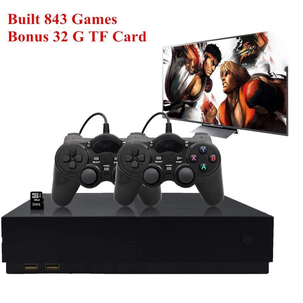 HFES rétro Console de jeu, système de divertissement HD Console de jeu vidéo 32 GB 800 jeux classiques 4 K HDMI sortie TV avec 2 pièces Joystic
