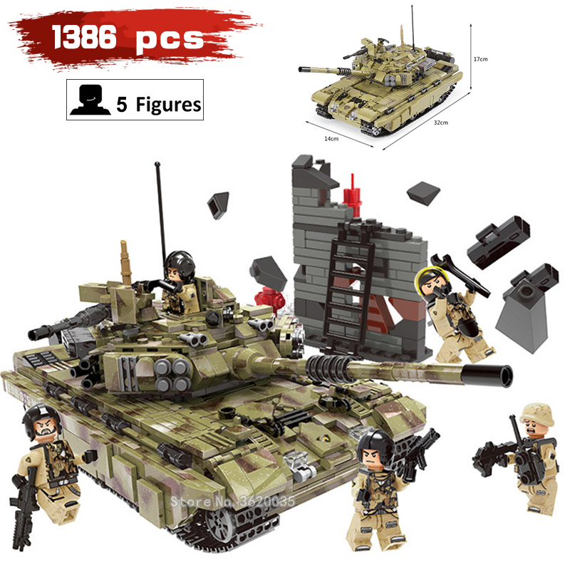 Tiger tank model compatible legoinglys Military ww2 Building Blocks Legion many Soldier figures Weapons toys for children gift цена