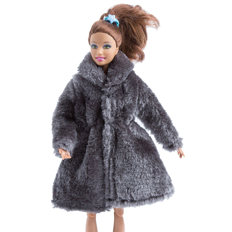 Doll Winter Clothes Fur Coat Fashion Clothing for 1:6 Scale Dolls Dress Up