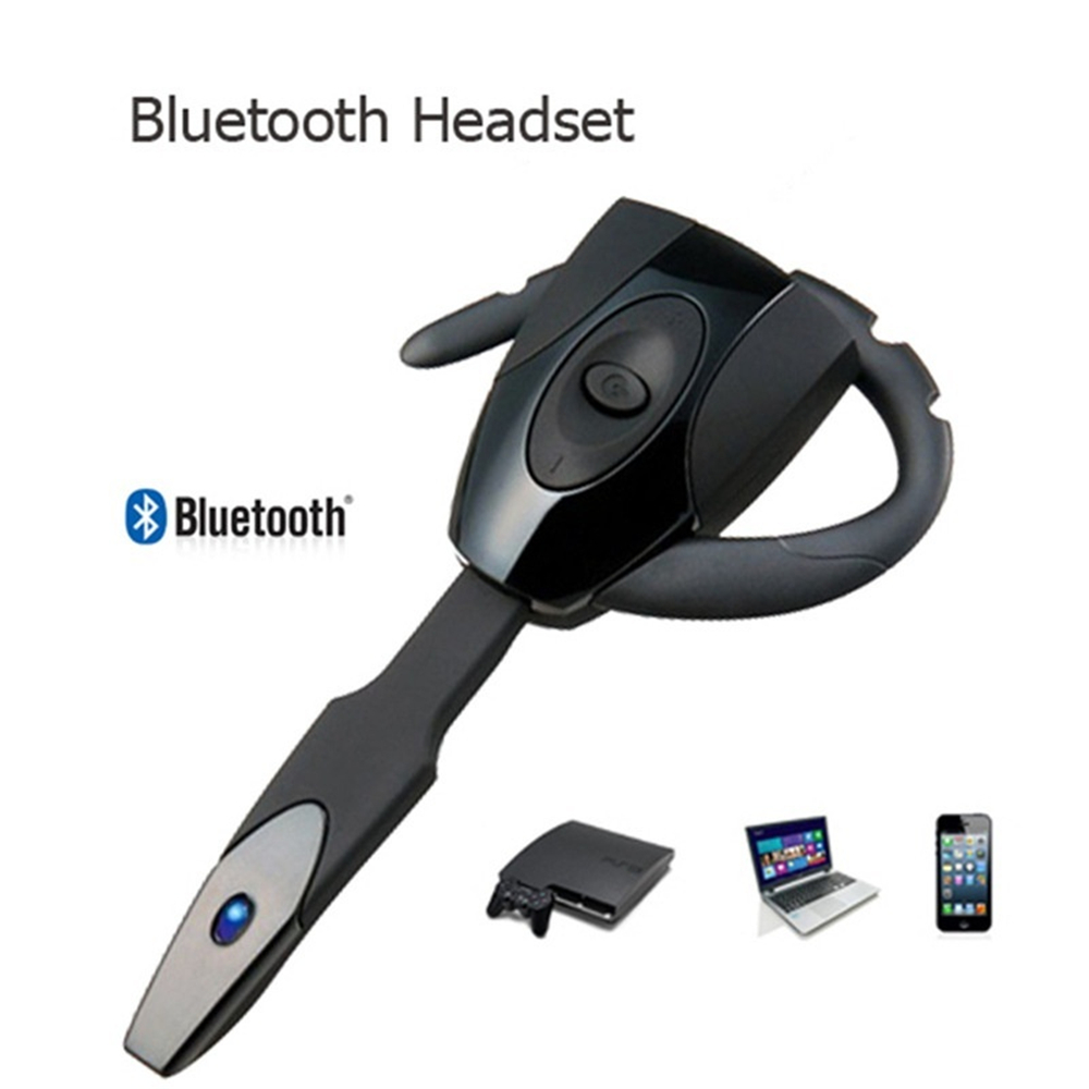 Wireless Bluetooth Headset Headphone Black Earphone for PS3 Smartphone Tablet PC Handsfree New Fashion Mini Headset Earphone