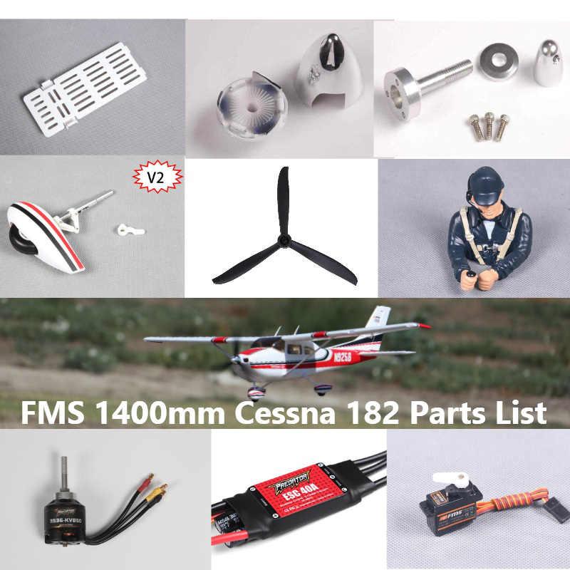 FMS 1400 มม.Cessna Sky TRAINER 182 ใบพัด SPINNER เพลามอเตอร์ Landing เกียร์ฯลฯ RC เครื่องบินเครื่องบินเครื่องบิน avion