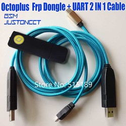 2019 ORIGINAL octopus frp tool / OCTOPLUS FRP DONGLE + Octoplus FRP USB UART 2 IN 1 Cables for Samsung Huawei lg xiaomi