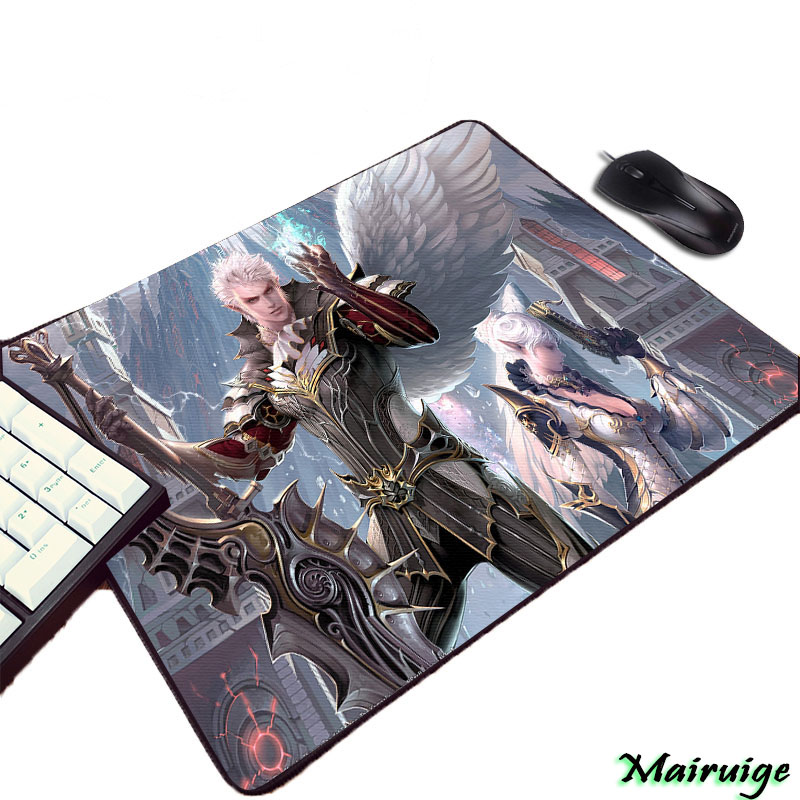 Mairuige So Beautuful Cool HD Wallpaper Pattern Print Lineage 2 Video Game Diy Pc Computer Gaming Mouse Pad For Decorate Desktop