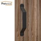 Probrico Rustic Black Barn Door Handles Steel Bend Modern Sliding Pulls Invisible Wood Door Pulls Recessed Flush Door Handles