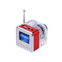 Symrun Support Micro SD TF USB Disk Speakers LED Screen FM Radio Alarm Clock TT029 Mini