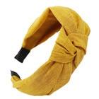<+>  Женская повязка на голову Twist Sport Hairband Лук узел Крест галстук повязка на голову ободок для в ①