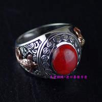 Импорт Таиланд, натуральная 925 серебро ов серебряное кольцо инкрустированные камень