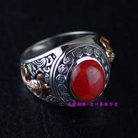 Thailand imports, genuine 925 Sterling Silver OV silver ring inlaid stone
