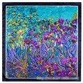 Взрыв Моделей В Европе И Америке Звезда Уличный Стиль Живописи Тюльпан Цветы Женская Сумка Небольшие Квадратные Шарфы 60*60 см
