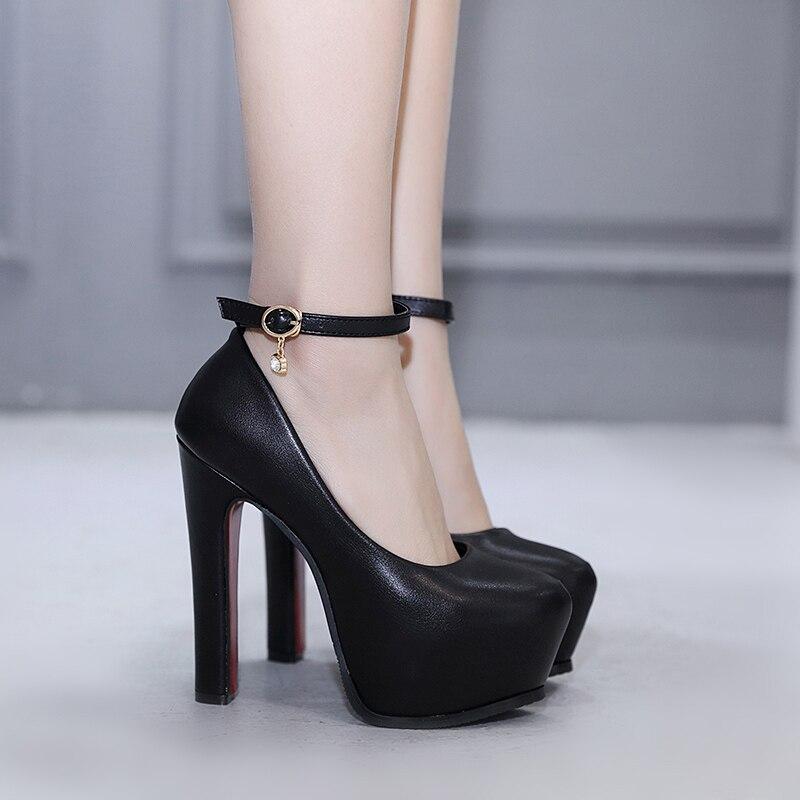 Dentelle Nuit Talon Stiletto Catwalk Simples Chaussures Cm Épais Des Femmes Sexy Haute Avec 1 15 De 2019 2 xvqOwASq