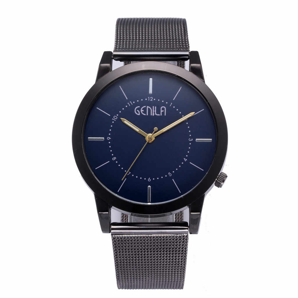 2019 Relogio Masculino de moda Simple Relojes hombres clásico pulsera de cuarzo de acero inoxidable de lujo Reloj Hombre Reloj