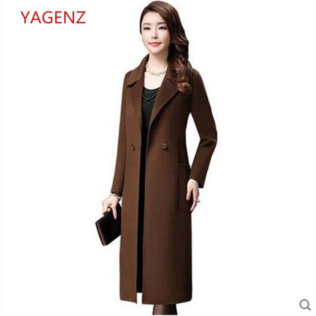 7372bd4bf2d3 Qualidade superior casaco de lã casaco De Caxemira Das Mulheres tops tamanho  Grande Outono Inverno NOVA