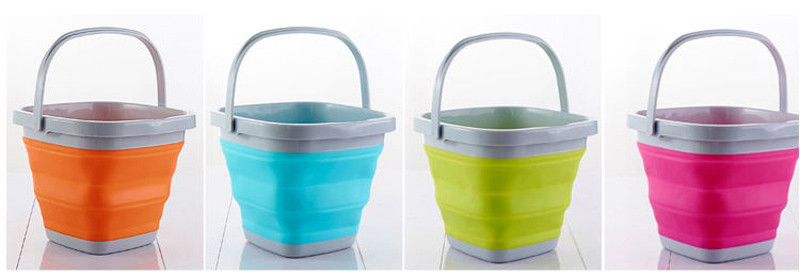 High Quality 10L Square Bucket Portable Folding Washing Hands Basin Foldable Camping Outdoor Fishing Sink Storage Water8
