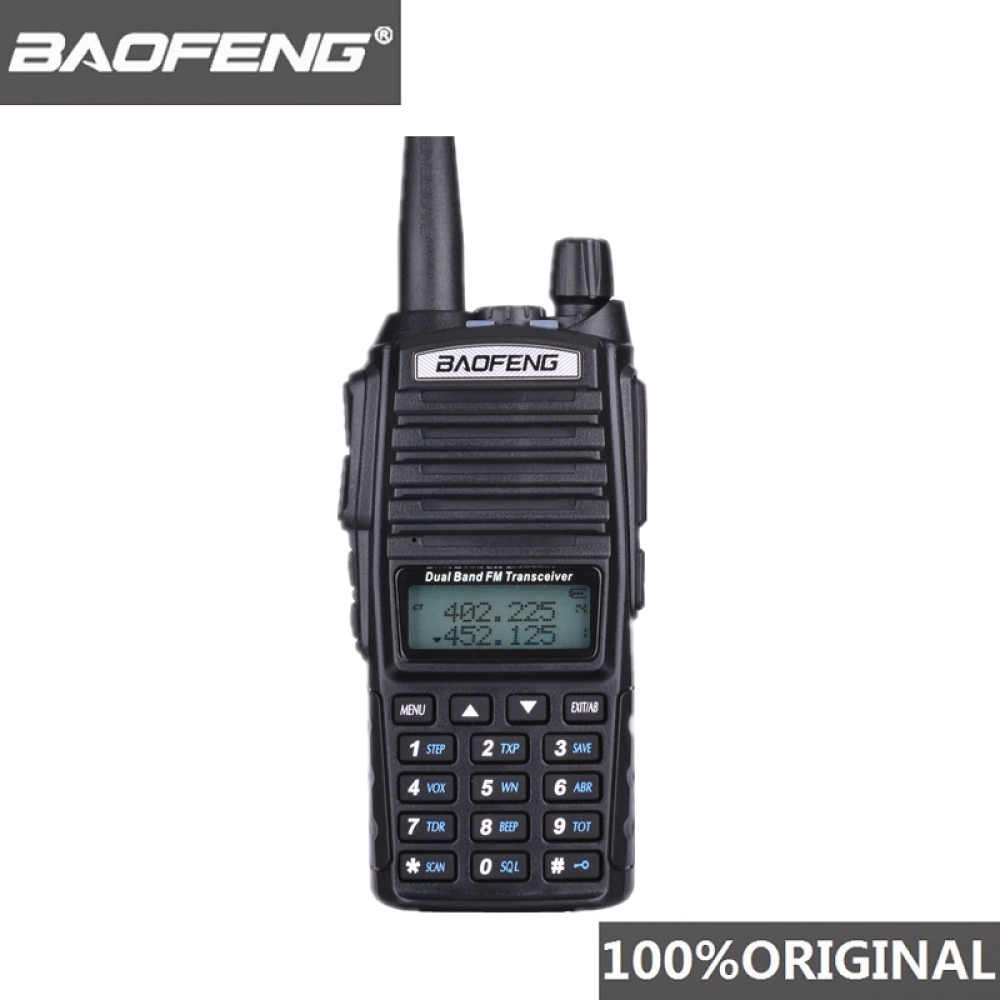 100% Baofeng UV 82 Walkie Talkie Dual Band Ham Radio Intercom UV82 Two Way Radio VHF UHF Portable Hunting Hf Transceiver UV 82