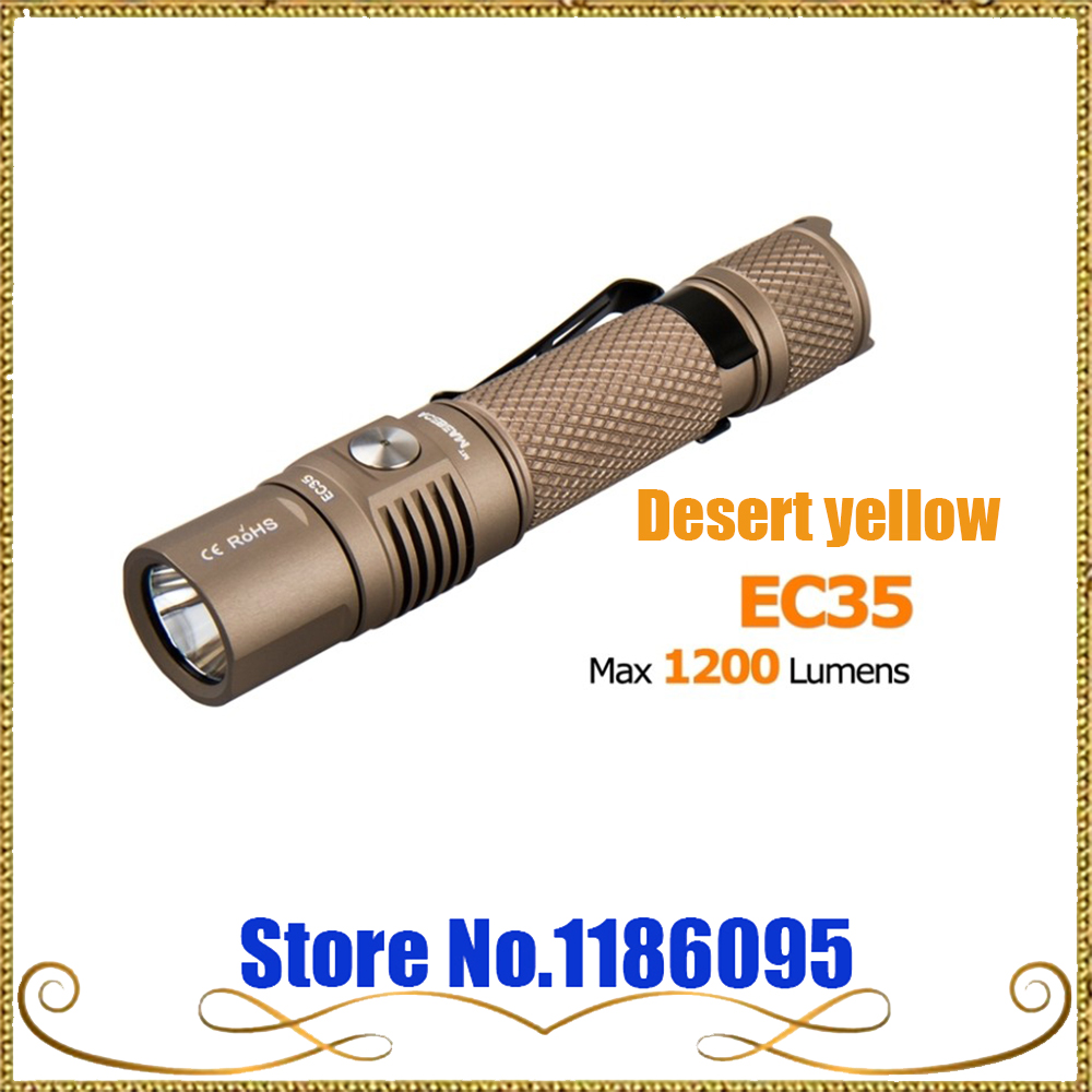 ФОТО 2016 ACEBeam EC35 1200LM CREE XPL LED Flashlight Torch Use 1x 18650 or 2x CR123A or2x 16340 Battery