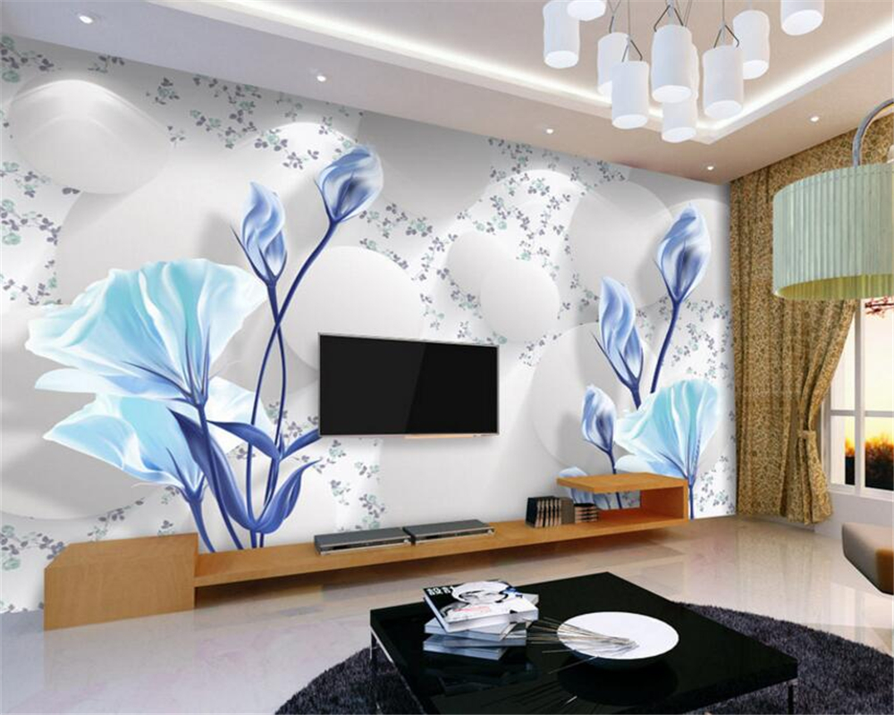 US $8 85 OFF Beibehang 3d Wallpaper Living Room Bedroom Mural Elegant Fresh Simple Wallpaper 3D 3D TV Wallpaper For Walls 3 D Papel De