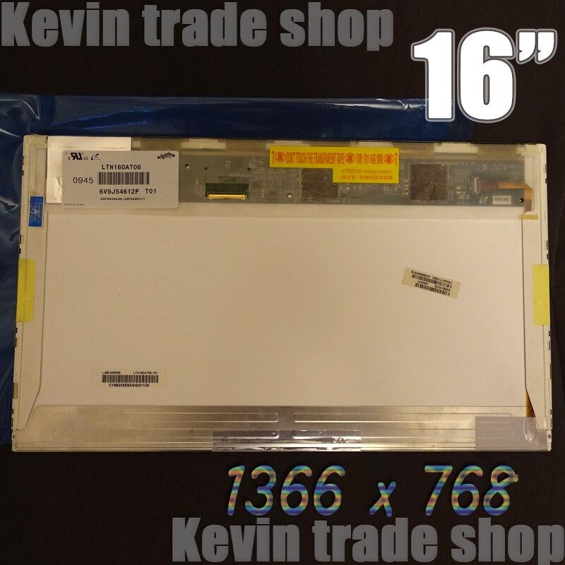 Prix pour Nouveau HSD160PHW1 HSD160PHW1-B00 LTN160AT06 16 pouce led Pour ASUS N61 N61vg N61JV HP DV6 CQ61 Ordinateur Portable LCD LED Écran D'affichage matrice