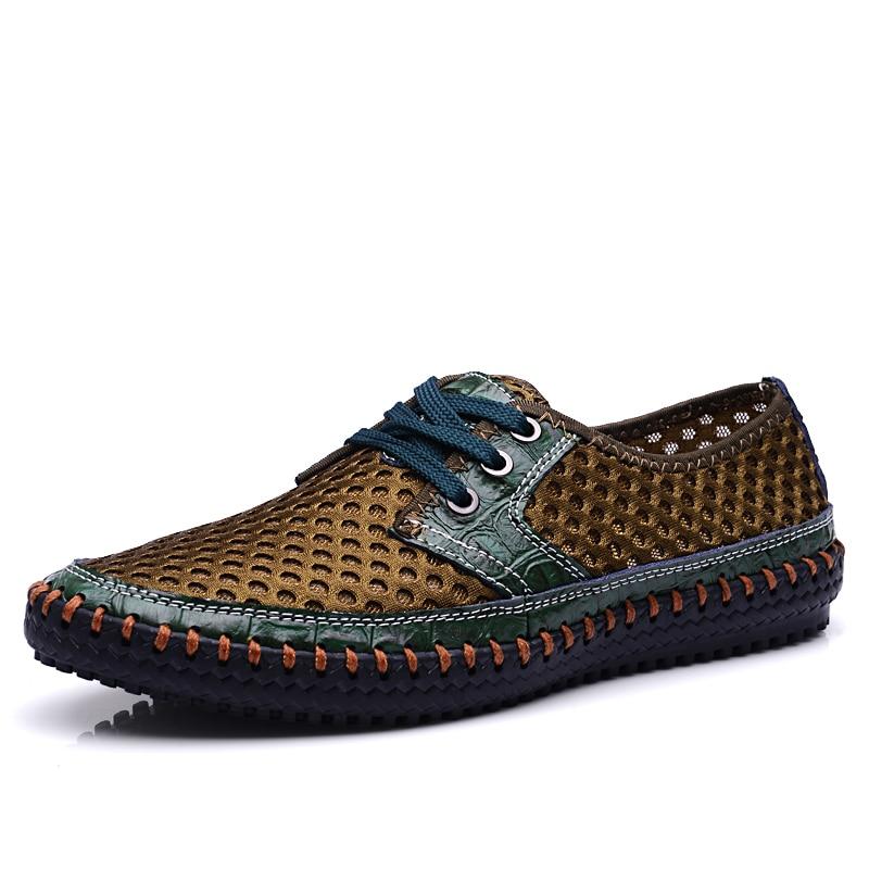 ФОТО  HKL Men shoes 2017 New Arrive Men's Casual shoes Super Breathable Skynet lightweight Summer Shoes Breathable Mesh Men's Shoes