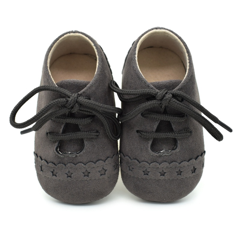 Infant Baby Girls Boys Spring Lace Up Soft Leather Shoes Toddler Sneaker Non-slip Shoes Casual Prewalker Baby Shoes 9