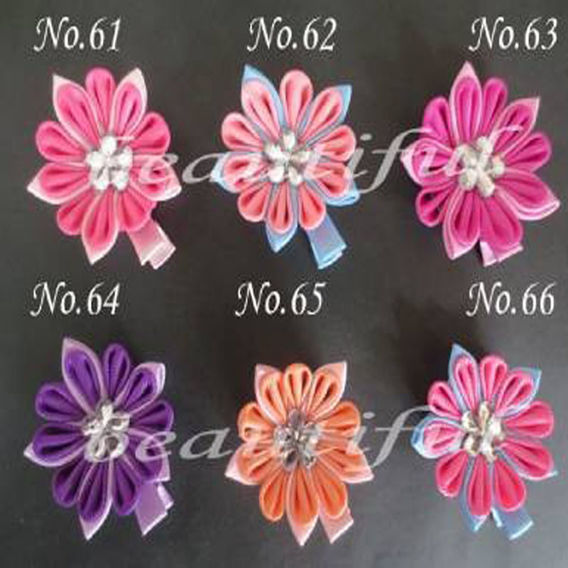 """100 BLESSING Good Latest Vogue Various Style 2.25-2.75/"""" Hair Bow Clip Flower"""