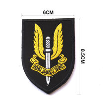 Special Air Service Tactical Morale Patch WHO DARES WINS Military Combat badge Embroidered Applique For Jackets Jeans Backpack(China)