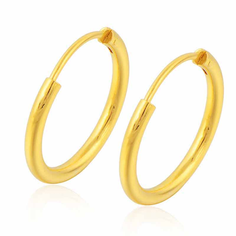 Charms Hoop Earrings Round Rhinestone Hollow Earrings Rromantic Girl Gold Plated