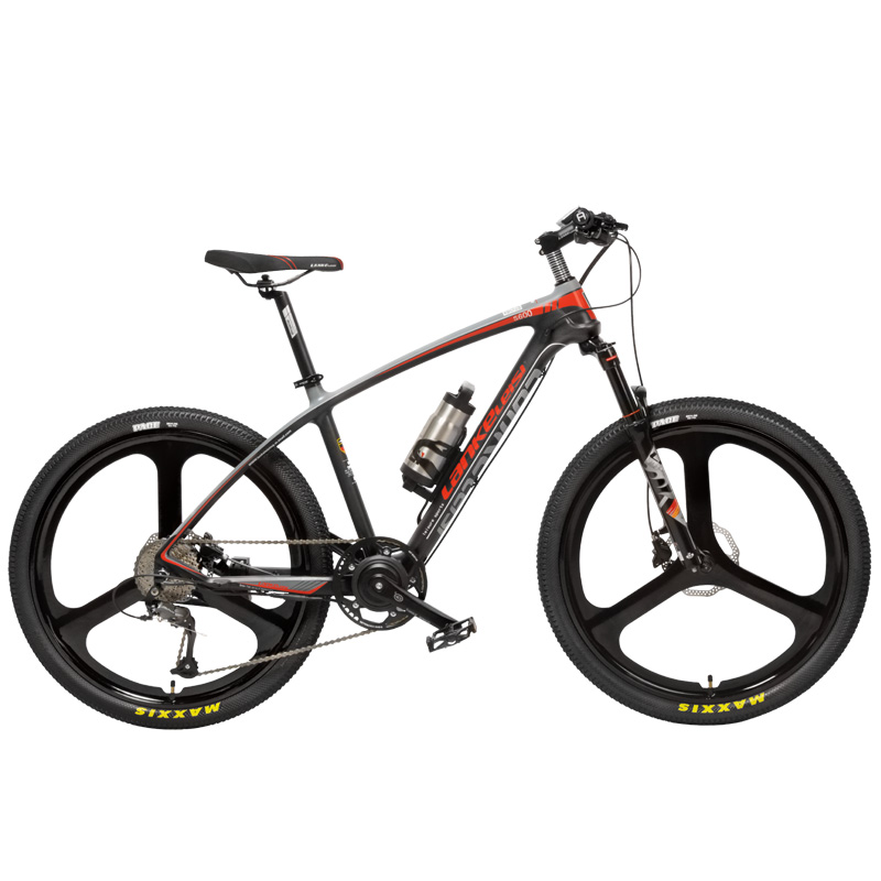 S600 9 Geschwindigkeit Elektrische Mountainbike Öl & Gas Abschließbar Suspension Gabel 240W 36V Batterie Carbon Faser Rahmen drehmoment Sensor Syetem