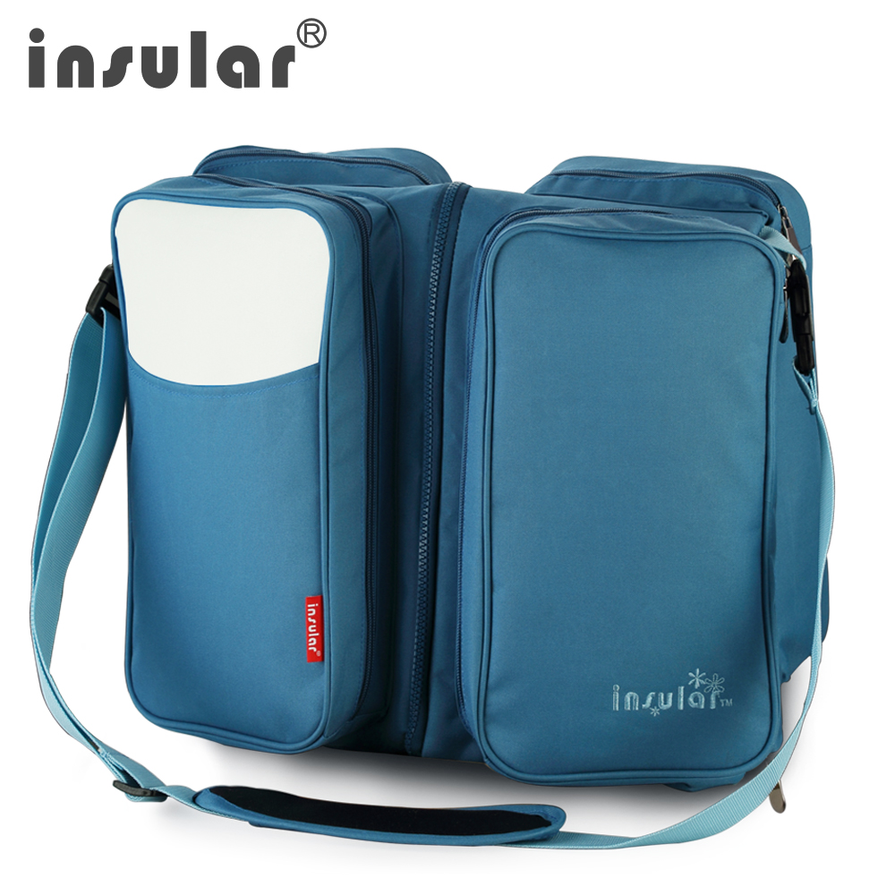 Baby bed in nigeria - Insular Multifunction Large Capacity Baby Diaper Bag Messenger Bags Portable Baby Bed Flat For Easy Storage