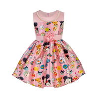 ABGMEDR Brand Girls Dresses Summer Girl Cartoon Graffiti Dress Baby Kids Clothes Child Clothing Clothes 2