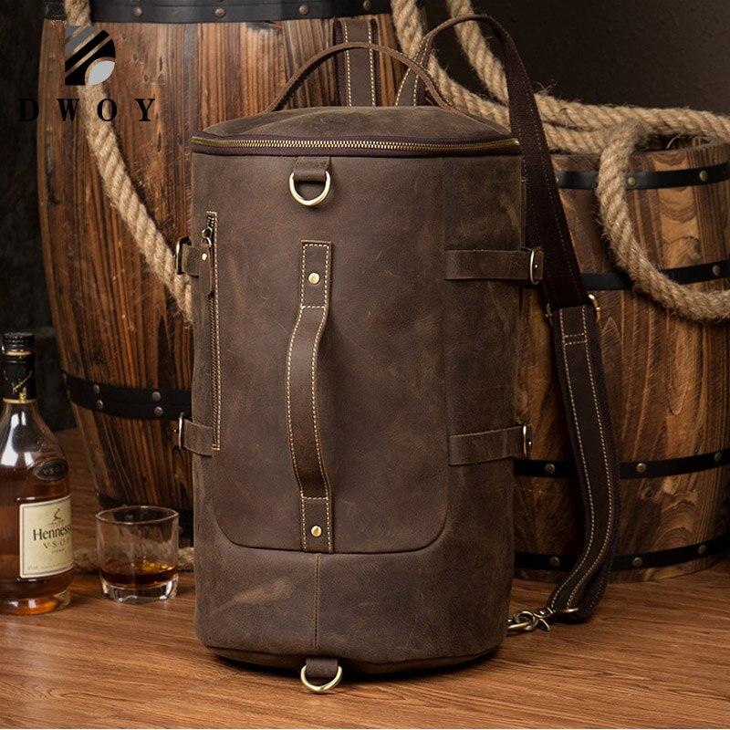 Genuine Leather Backpack Men Large Capacity Mens Leather Backpack For Travel Casual Men Daypacks Travle Backpack Mochila