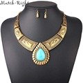 Women Necklace Vintage Statement Necklaces Pendants Water Drop Jewelry Leaves Necklace Women Accessories for Gift Party KK032