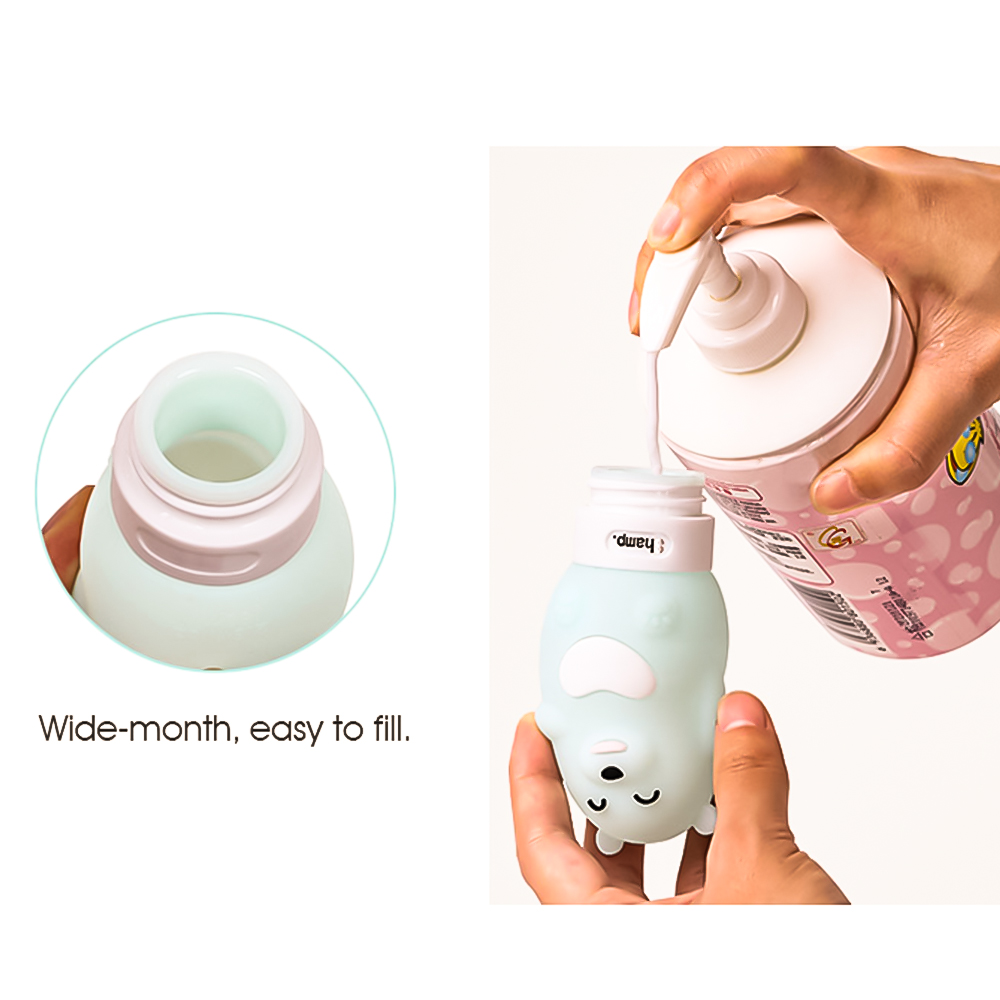 Travel Silicone Bottle Shampoo Shower Gel Lotion Sub bottling Tube Squeeze Kit 60 80 90 100ML in Portable Soap Dispensers from Home Garden