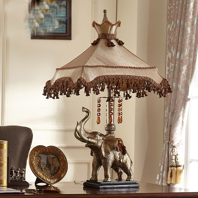 Superior High 88CM Big Size Luxury Fashion Elephant Table Lamp Bedroom Bedside Lamp  Lamps Brief Modern Decoration