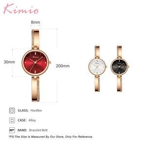 Image 5 - KIMIO New 2020 Women Watches Luxury Rhinestone Rose Gold Ladies Watch Stainless Steel Women Bracelet Watch Quartz Female Clock