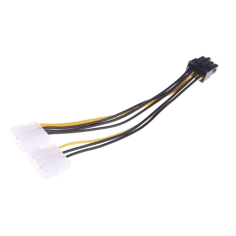 1Pc Practical PWM 3-Fan 4 Pin Splitter Cable with Molex Power 1 Foot Brandnew